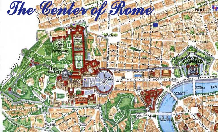 Cartina Roma Vaticano.Mappa Di Roma